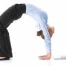 Beeld Fysieke en mentale oefeningen om een thuiswerk burn-out onder controle te krijgen