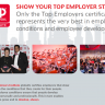 Beeld Top Employer Institute - Show your Top Employer status
