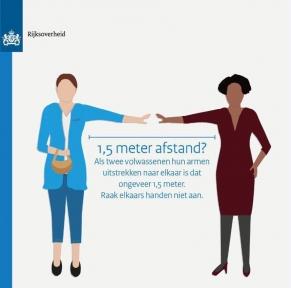 Beeld 89 procent van de economie kan op 1,5 meter afstand draaien