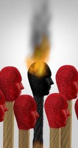 Beeld 1 op 5 werkenden zit tegen burn-out aan