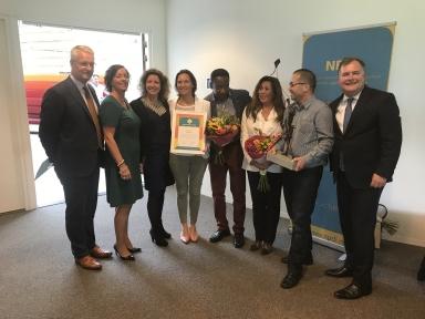 Beeld Kroon op het Werk prijs 2018 naar Hago Next
