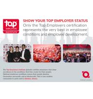 Beeld Top Employer Institute - Show your Top Employer status