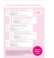 Beeld Programma Academie Permanent 2016/ 2017